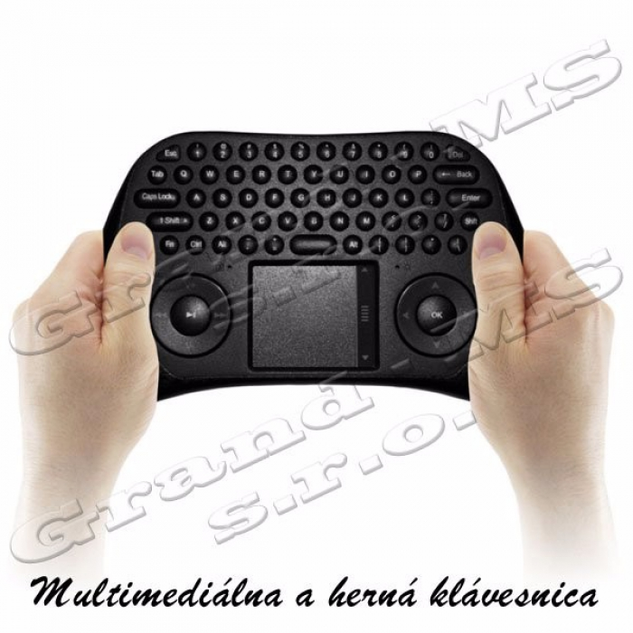Bezkáblová multimediálna mini klávesnica k PC a Android PC smart TV